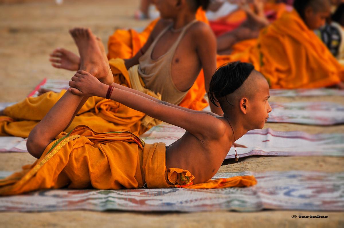 Jeune yogi sur les Ghats