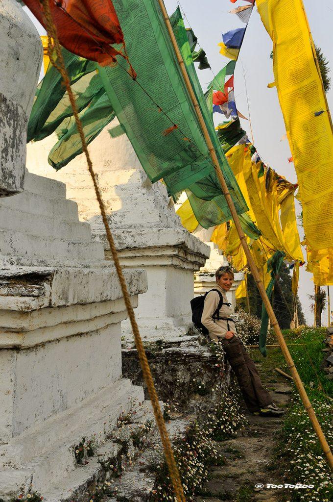 Repos après la monté au monastère Yaksum