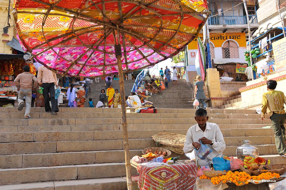 les marchands sur les Ghats