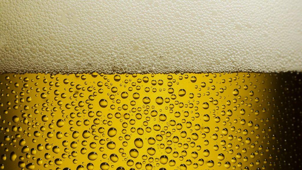 Bulle de Bière dans un verre