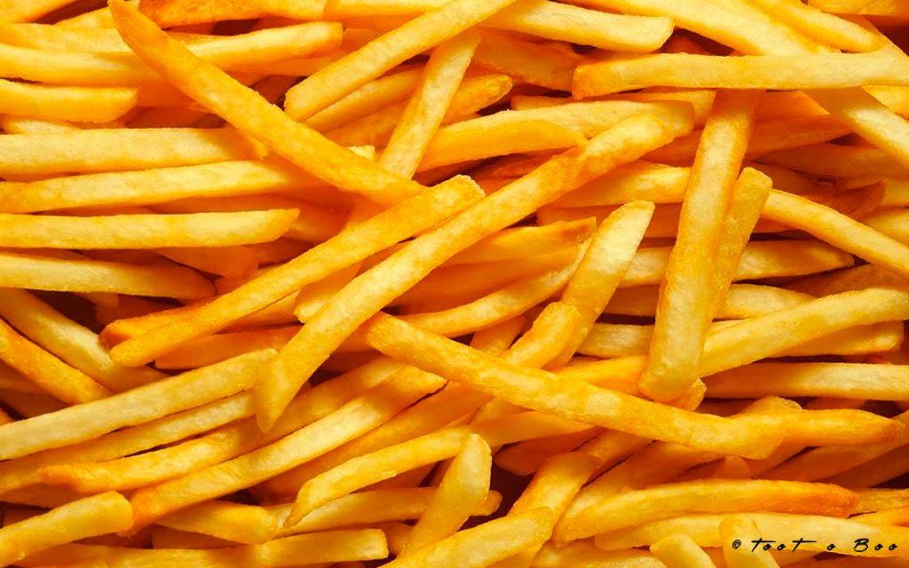 Assiete de frites pour le waterzoï
