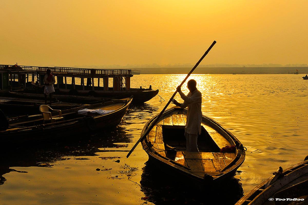 Pêcheur sur les Ghats